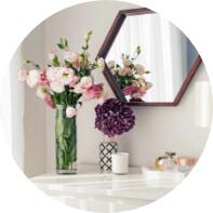 świeże kwiaty w domu