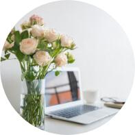świeże kwiaty w firmie